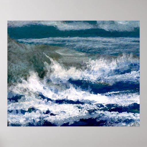 Poster del océano de CricketDiane - trituradores e