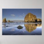 Poster del Océano Pacífico de Oregon de la marea b