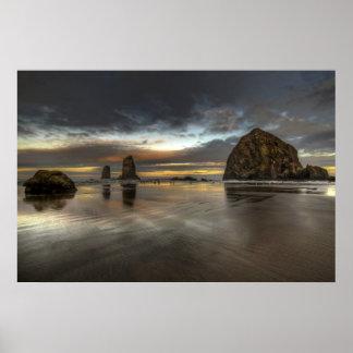 Poster del Océano Pacífico de Oregon de la marea b Póster