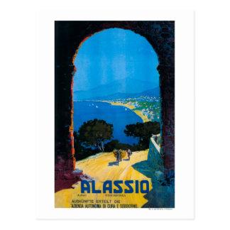 Poster del oeste del viaje de Riviera del italiano Tarjetas Postales