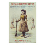 Poster del oeste salvaje de Buffalo Bill Annie Oak