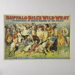 Poster del oeste salvaje de los vaqueros de Buffal