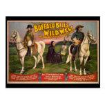 Poster del oeste salvaje de los vaqueros de Buffal Tarjetas Postales