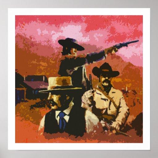 Poster del oeste salvaje del arte pop