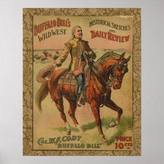 Poster del oeste salvaje occidental de la demostra