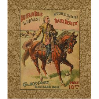 Poster del oeste salvaje occidental de la fotoescultura vertical