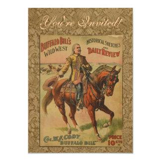 Poster del oeste salvaje occidental de la invitación 11,4 x 15,8 cm