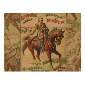 Poster del oeste salvaje occidental de la postal