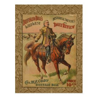 Poster del oeste salvaje occidental de la tarjetas postales