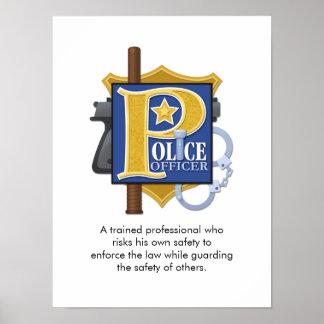 """""""Poster del oficial de policía"""" Póster"""
