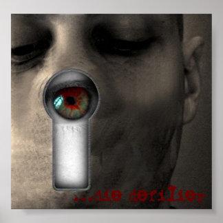[poster del ojo de la cerradura] póster