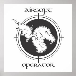 Poster del operador de Airsoft