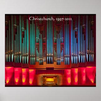 Poster del órgano de ayuntamiento de Christchurch