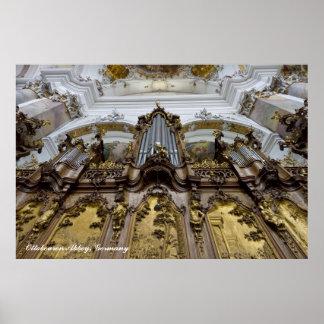 Poster del órgano de la abadía de Ottobeuren