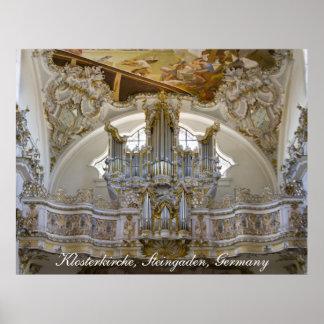 Poster del órgano de la abadía de Steingaden