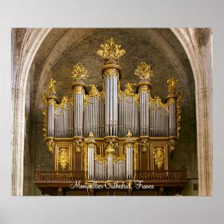 Poster del órgano de la catedral de Montpellier