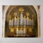 Poster del órgano de la catedral de Montpellier Póster