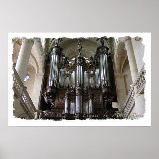 Poster del órgano de St. Etienne du Mont