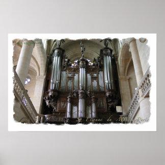 Poster del órgano de St. Etienne du Mont Póster