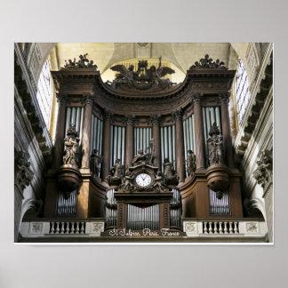 Poster del órgano del St Sulpice Póster
