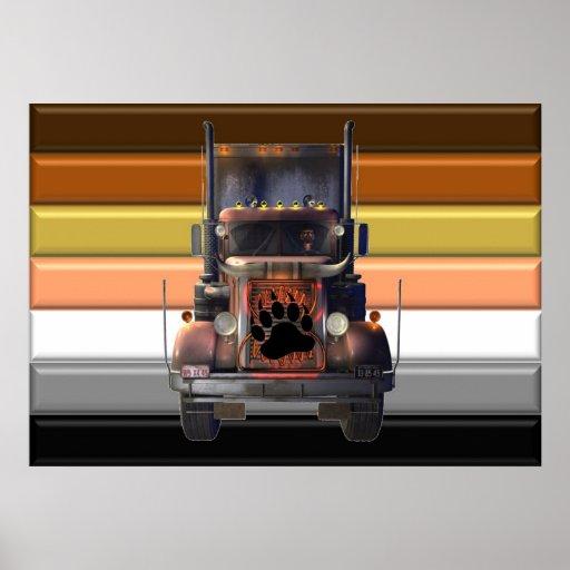 Poster del orgullo del oso del camionero
