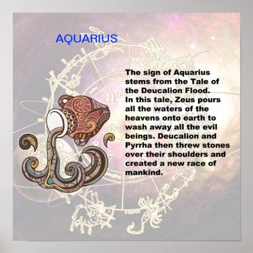 Poster del origen del acuario
