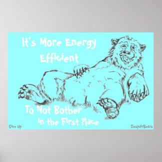 Poster del oso de la desesperación - rendimiento e póster