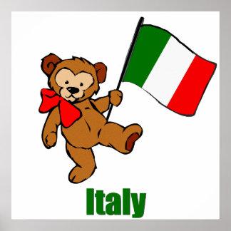 Poster del oso de peluche de Italia