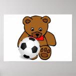 """""""Poster del oso del fútbol"""""""