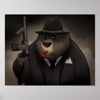 Poster del oso del gángster póster
