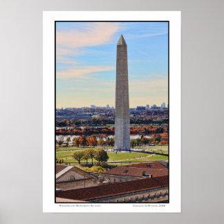 Poster del otoño de Washington Moument- Póster