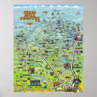 Poster del país de la colina de Tejas