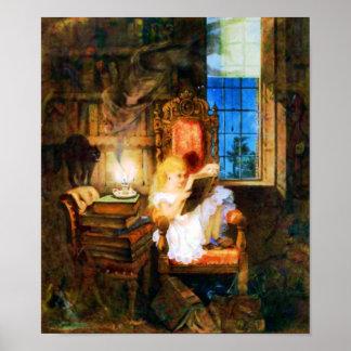 Poster del país de las maravillas de la lectura