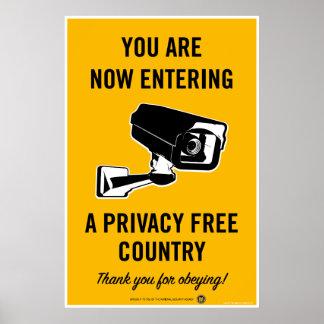 Poster del país libre de la aislamiento