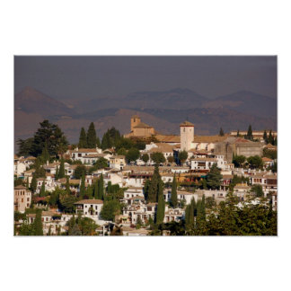 Poster del paisaje de Granada
