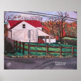Poster del paisaje de la granja