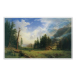 Poster del paisaje de la montaña del vintage