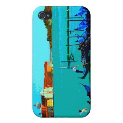 Poster del paisaje de Venecia iPhone 4/4S Carcasa