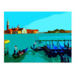 Poster del paisaje de Venecia Postal
