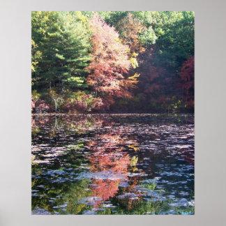 Poster del paisaje del otoño