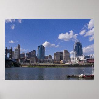 Poster del paisaje urbano de Cincinnati