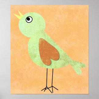 poster del pájaro