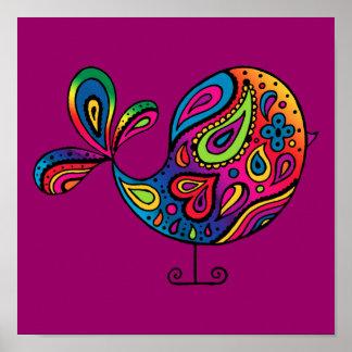 Poster del pájaro del arco iris