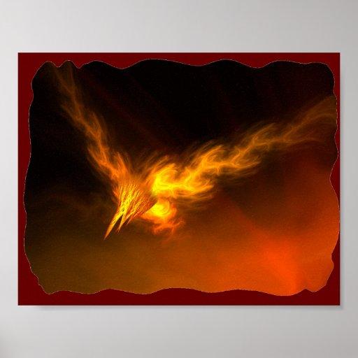 Poster del pájaro del fuego