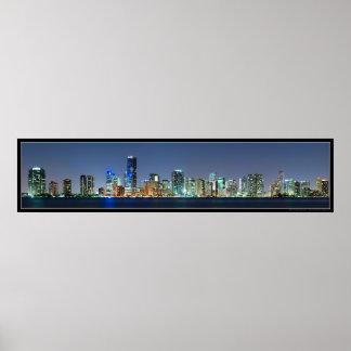 Poster del panorama del horizonte de Miami