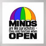 Poster del paracaídas del arco iris