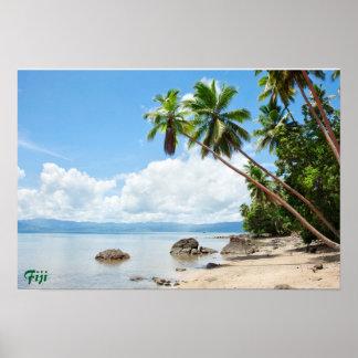 Poster del paraíso de las Islas Fiji Póster