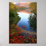 Poster del paraíso del otoño de Catskills