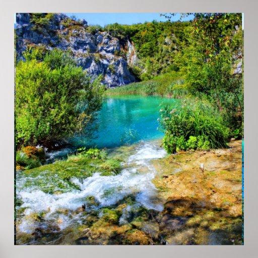 Poster del parque nacional de los lagos Plitvice