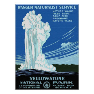 Poster del parque nacional de Yellowstone